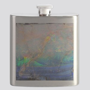 opal gemstone iridescent mineral bling bokeh Flask