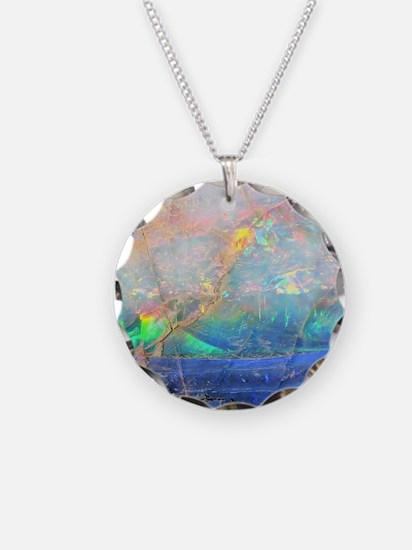 opal gemstone iridescent min Necklace
