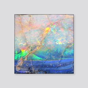 "opal gemstone iridescent mi Square Sticker 3"" x 3"""