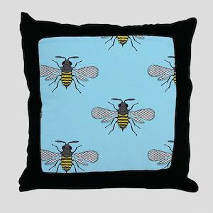 antique bees Throw Pillow