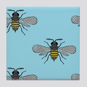antique bees Tile Coaster