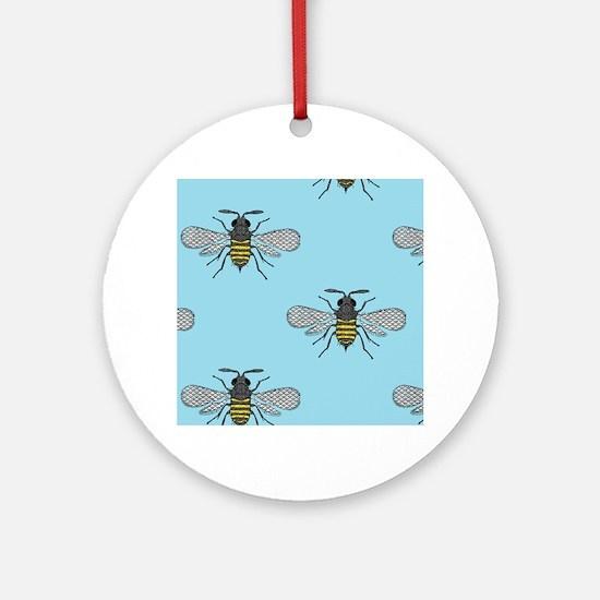 antique bees Round Ornament