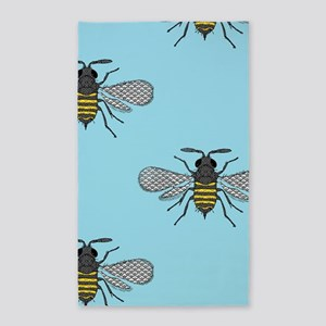 antique bees Area Rug