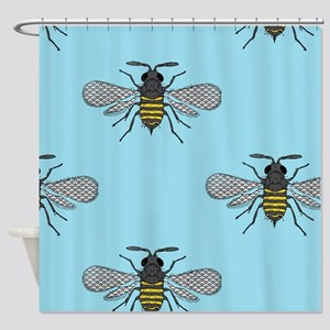 antique bees Shower Curtain