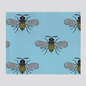 antique bees Throw Blanket