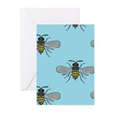 Bumble bees Greeting Cards (20 Pack)