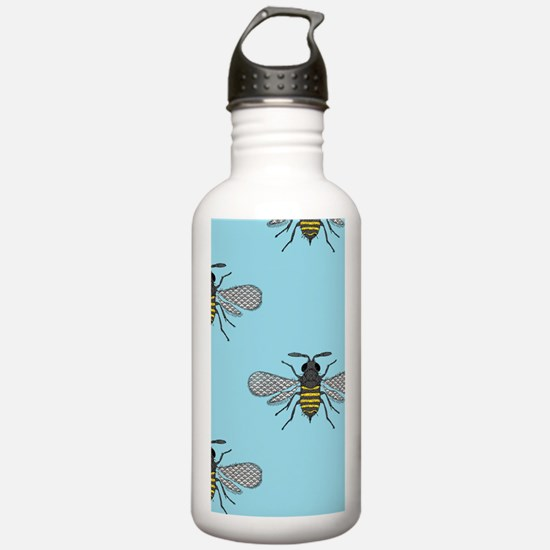 antique bees Water Bottle