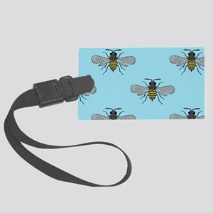 antique bees Large Luggage Tag