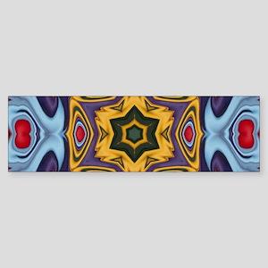 new age tibetian pattern Bumper Sticker