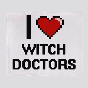 I love Witch Doctors digital design Throw Blanket