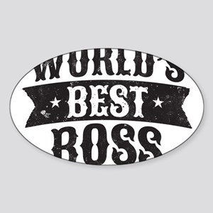 World's Best Boss Sticker