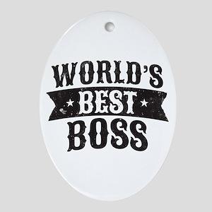 World's Best Boss Oval Ornament
