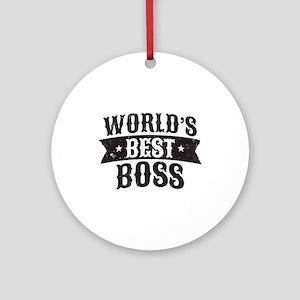 World's Best Boss Round Ornament