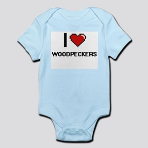I love Woodpeckers digital design Body Suit