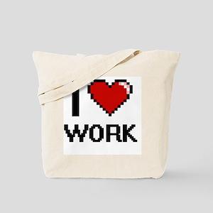 I love Work digital design Tote Bag