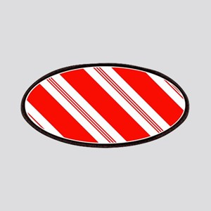 Candy Cane Stripes Holiday Pattern Patch