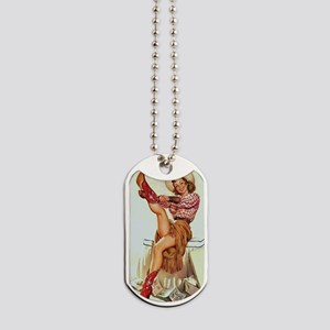 Pin Up: Cowgirl ! Dog Tags