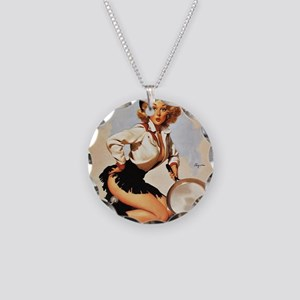 Pin Up: Cowgirl ! Necklace Circle Charm