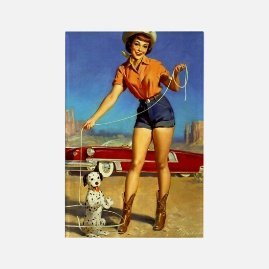 Pin Up: Cowgirl ! Rectangle Magnet
