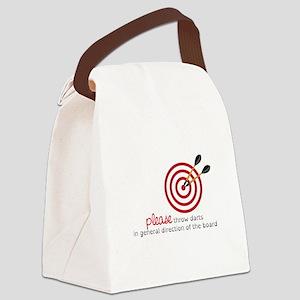 Throw Darts Canvas Lunch Bag