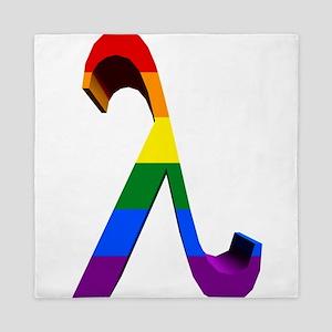 3D Rainbow Lambda Queen Duvet