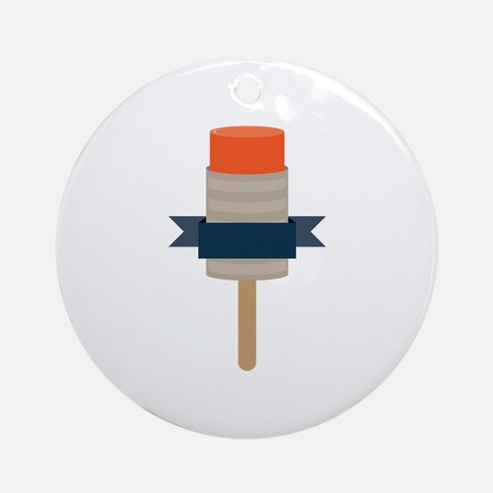Push Up Popsicle Round Ornament