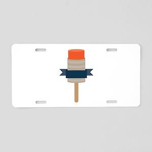 Push Up Popsicle Aluminum License Plate