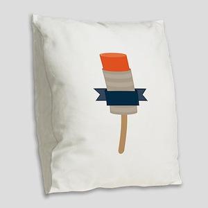 Push Up Popsicle Burlap Throw Pillow