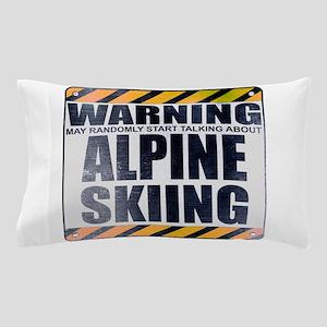 Warning: Alpine Skiing Pillow Case