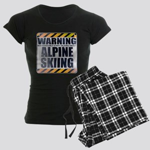 Warning: Alpine Skiing Women's Dark Pajamas