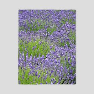 Purple lavender field Twin Duvet