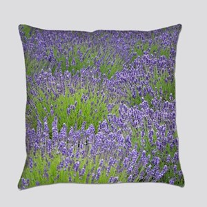 Purple lavender field Everyday Pillow