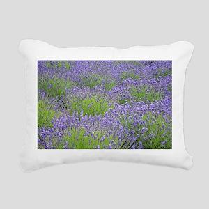 Purple lavender field Rectangular Canvas Pillow