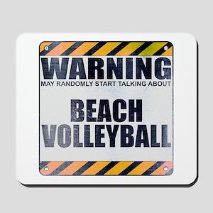 Warning: Beach Volleyball Mousepad