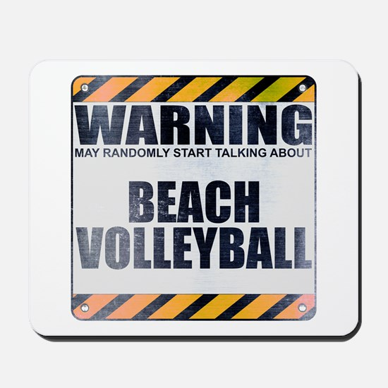 Warning: Beach Volleyball Mousepad
