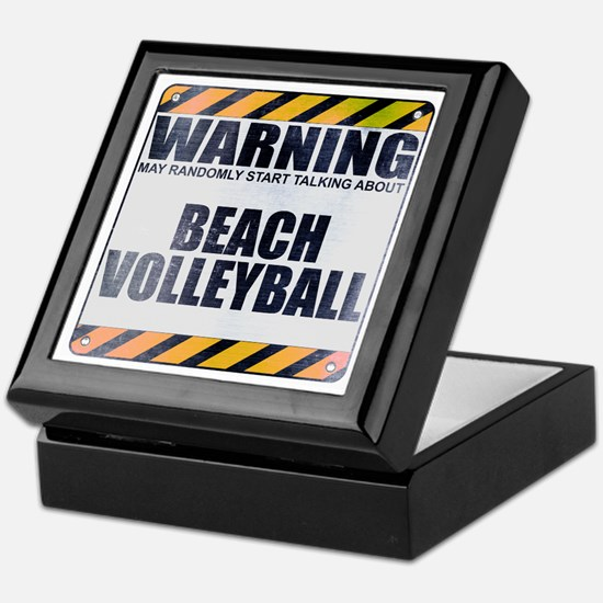 Warning: Beach Volleyball Keepsake Box