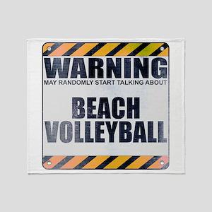 Warning: Beach Volleyball Stadium Blanket