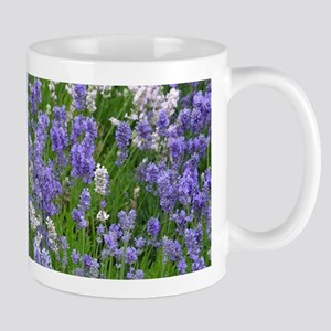 Pink and purple lavender field Mugs