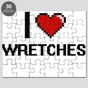 I love Wretches digital design Puzzle