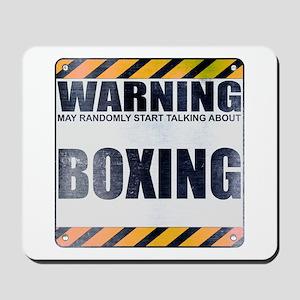Warning: Boxing Mousepad