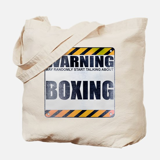 Warning: Boxing Tote Bag