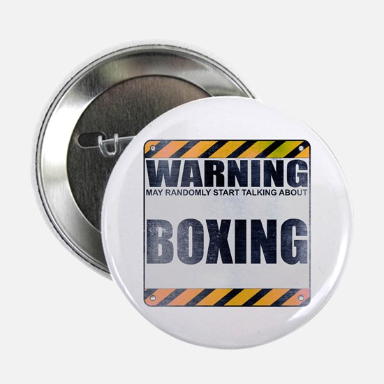 """Warning: Boxing 2.25"""" Button (100 pack)"""
