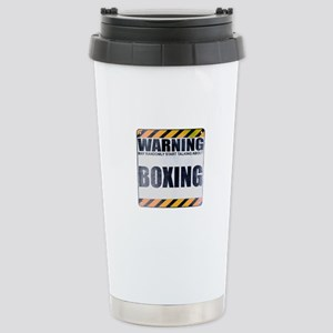 Warning: Boxing Ceramic Travel Mug