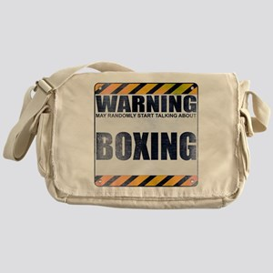 Warning: Boxing Canvas Messenger Bag