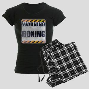 Warning: Boxing Women's Dark Pajamas