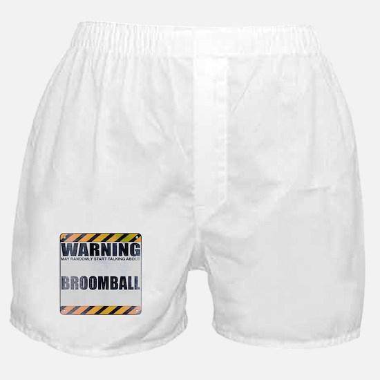 Warning: Broomball Boxer Shorts