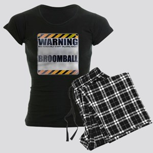 Warning: Broomball Women's Dark Pajamas