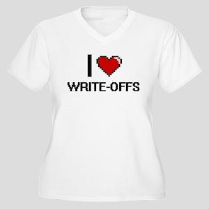 I love Write-Offs digital design Plus Size T-Shirt