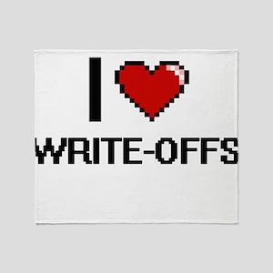 I love Write-Offs digital design Throw Blanket