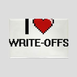 I love Write-Offs digital design Magnets